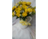 Pitcher Full of Yellow Sunshine in Carlsbad CA, El Camino Florist & Gifts