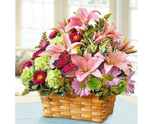 Blooming Garden Basket in Largo FL, Rose Garden Florist