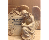 Kneeling Solar  angel in Fayetteville GA, Our Father's House Florist & Gifts