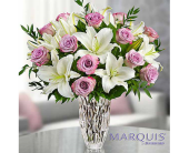 Marquis by Waterford® Purple Rose & Lily Bouquet dans Watertown CT, Agnew Florist