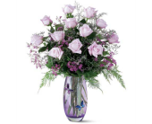 Mothers Day Teleflora Crystal Butterfly Vase in Bradenton FL, Tropical Interiors Florist