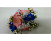 Corsage with Pink Roses in McKees Rocks PA, Muzik's Floral & Gifts