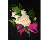 White Rose W/Pink Ribbon in Maple ON, Jennifer's Flowers & Gifts