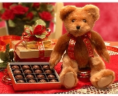 Valentine Bear and Chocolates in Bound Brook NJ, America's Florist & Gifts