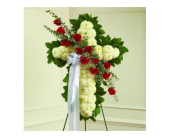 Floral Cross With Red Roses in New Port Richey, Florida, Holiday Florist