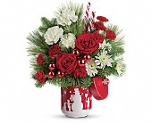 Teleflora's Snow Day Bouquet in Dallas TX, Petals & Stems Florist