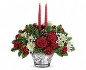 Teleflora's Sparkling Star Centerpiece in Dallas TX, Petals & Stems Florist