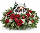 Thomas Kinkade's Jolly Santa Bouquet in East Amherst NY, American Beauty Florists