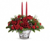 Teleflora's All That Glitters Centerpiece in Dallas TX, Petals & Stems Florist