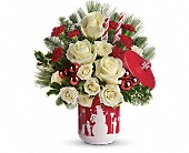 Teleflora's Falling Snow Bouquet in Dallas TX, Petals & Stems Florist