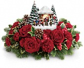 Thomas Kinkade's Visiting Santa Bouquet in East Amherst NY, American Beauty Florists