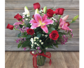 Red Roses With Lilies DELUXE in Smyrna GA, Floral Creations Florist