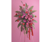 Fuschia and Red Standing Spray in Miami, Florida, Creation Station Flowers & Gifts