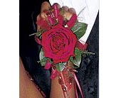 Beads and Red Roses Wristlet in St. Louis MO, Walter Knoll Florist