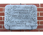 Memory/Keepsake Plaque in Des Moines IA, Irene's Flowers & Exotic Plants