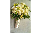 Ivory Roses with Freesia in Yonkers, New York, Beautiful Blooms Florist