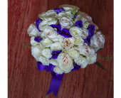 White & Pink Roses in Yonkers, New York, Beautiful Blooms Florist