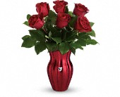 Teleflora's Heart Of A Rose Bouquet in Edmonton AB, Petals For Less Ltd.