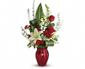 Teleflora's Hearts Aflutter Bouquet in Edmonton AB, Petals For Less Ltd.