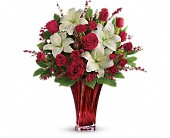 Love's Passion Bouquet by Teleflora in San Leandro CA, East Bay Flowers