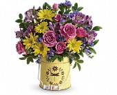Teleflora's Blooming Pail Bouquet in Sitka AK, Bev's Flowers & Gifts
