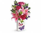 Teleflora's Brilliant Butterflies Bouquet in Aston PA, Wise Originals Florists & Gifts