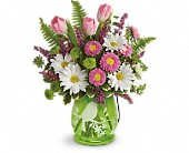 Teleflora's Songs Of Spring Bouquet in Johnstown NY, Studio Herbage Florist