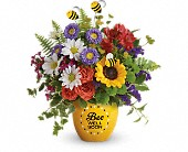 Teleflora's Garden Of Wellness Bouquet in Menomonee Falls WI, Bank of Flowers