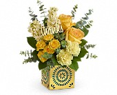 Teleflora's Shimmer Of Thanks Bouquet in San Jose CA, Rosies & Posies Downtown