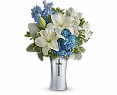Teleflora's Skies Of Remembrance Bouquet in Harlan KY, Coming Up Roses