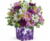 Teleflora's Dancing Violets Bouquet in Harlan KY, Coming Up Roses