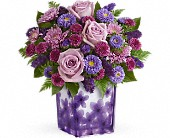 Teleflora's Happy Violets Bouquet in Harlan KY, Coming Up Roses