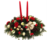 Traditional Christmas - 2 Candle in Grimsby ON, Cole's Florist Inc.