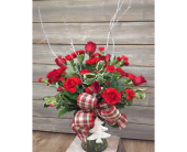 Holly & Red Bouquet in Smyrna GA, Floral Creations Florist