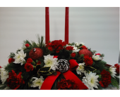 Classic Christmas Centerpiece in Norwich NY, Pires Flower Basket, Inc.