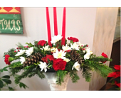 3 Candle Centerpiece in Cleveland OH, Filer's Florist Greater Cleveland Flower Co.