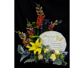 Stepping Stone w/ Flowers in Westfield, Indiana, Union Street Flowers & Gifts