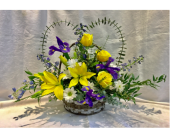 Funeral Heart Basket in Kingston NY, Flowers by Maria