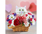 Flirty Feline in Mount Morris MI, June's Floral Company & Fruit Bouquets