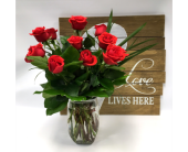One Dozen Orange in Belleville ON, Live, Love and Laugh Flowers, Antiques and Gifts