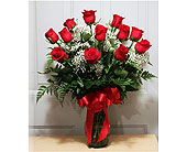 Dozen Red Roses in Largo FL, Rose Garden Florist
