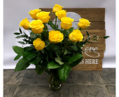 One Dozen YELLOW in Belleville ON, Live, Love and Laugh Flowers, Antiques and Gifts