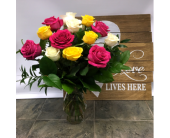 One Dozen MIXED in Belleville ON, Live, Love and Laugh Flowers, Antiques and Gifts