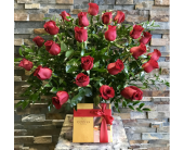 2 Dozen Roses plus Chocolates in Staten Island NY, Eltingville Florist Inc.