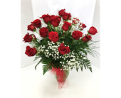2 Dozen Roses in Raleigh NC, Gingerbread House Florist - Raleigh NC