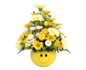 Smiley Face Bowl Bouquet in Southfield MI, Thrifty Florist