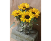 Sunflower Jar Holder in Edmonds WA, Dusty's Floral