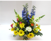 Spring Garden Basket in Worcester, Massachusetts, Holmes Shusas Florists, Inc