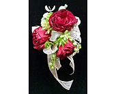 Rose & succulent corsage in Redmond WA, Bear Creek Florist