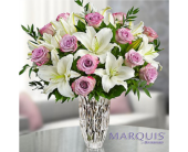 Marquis by Waterford Purple Rose & Lily Bouquet in Huntington WV, Archer's Flowers and Gallery